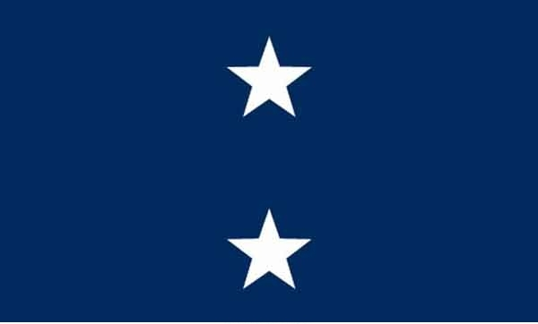3' x 5' 2 Star Seagoing Navy High Wind, US Made Flag