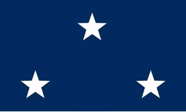 3' x 5' 3 Star Seagoing Navy High Wind, US Made Flag