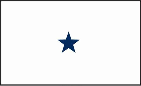 3' x 5' 1 Star Non-Seagoing Navy High Wind, US Made Flag