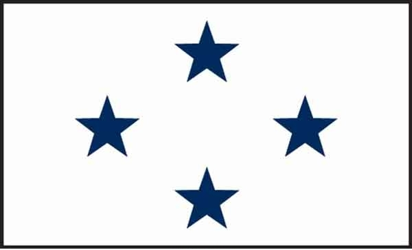 3' x 5' 4 Star Non-Seagoing Navy High Wind, US Made Flag