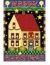 Merry Christmas Salt Box House Flag - 3 left
