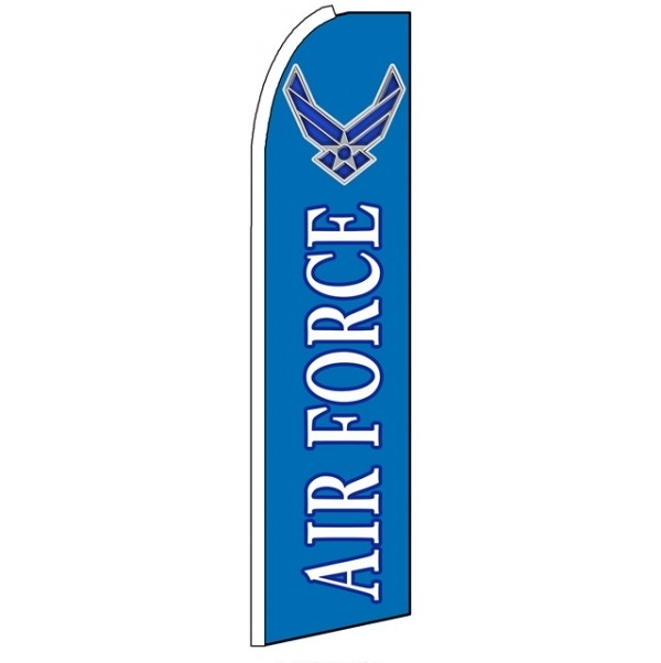 Air Force Feather Flag 2.5' x 11'
