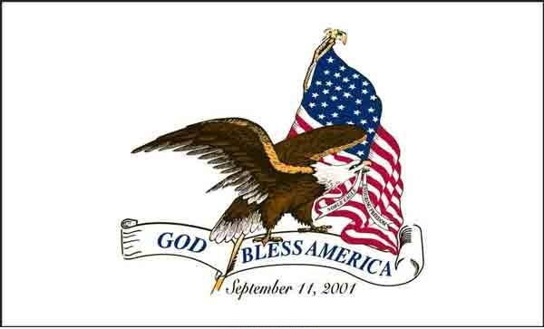 3' x 5' God Bless America US Made, High Wind Flag