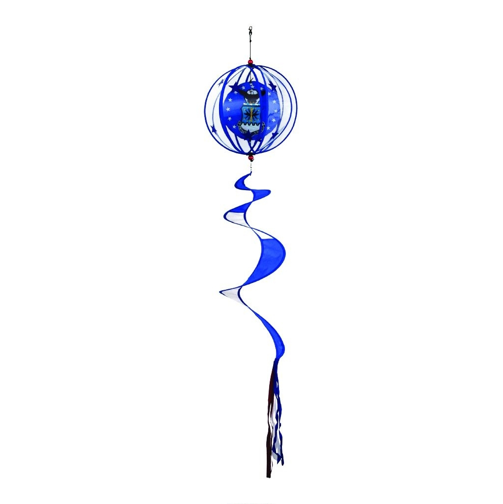 """Air Force Applique Twister Ball Spinner 14"""" x 57"""""""