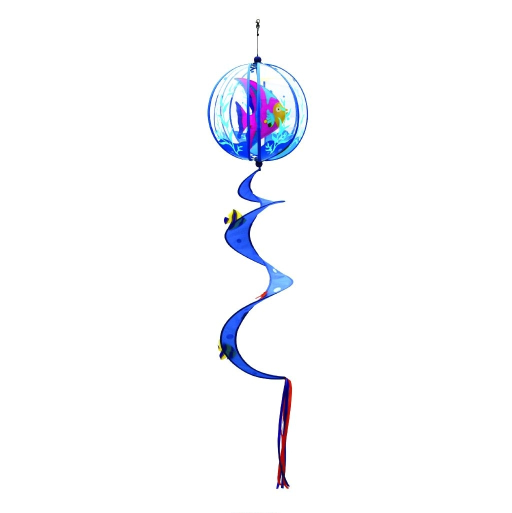 """Angel Fish Applique Twister Ball Spinner 14"""" x 57"""""""