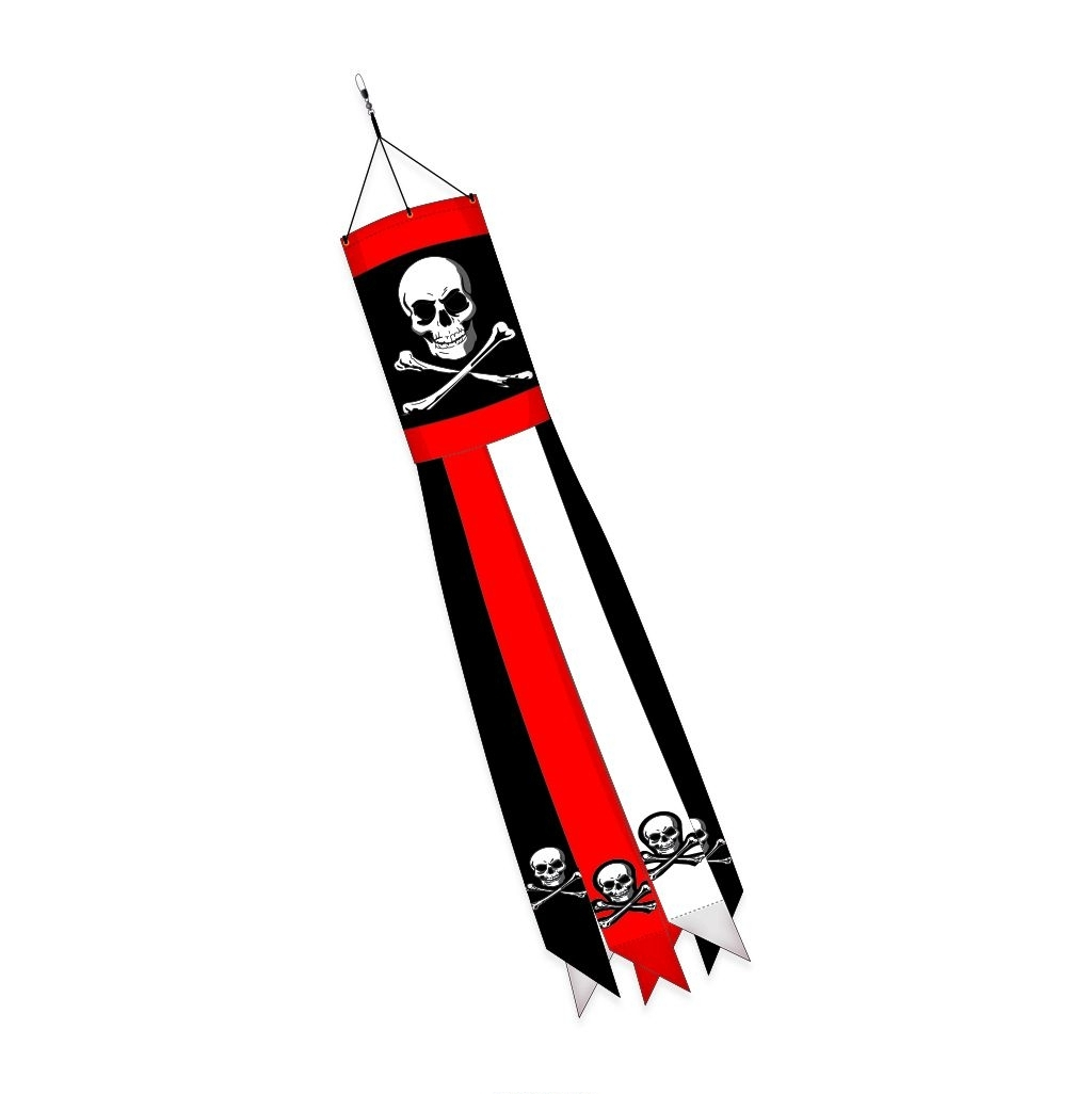 "Pirate Applique Windsock 10"" x 40"""