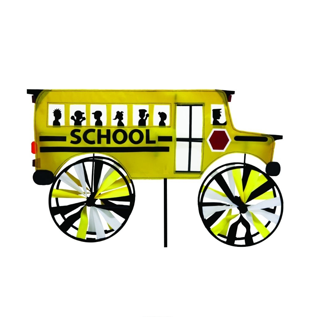 "School Bus Applique Windwheel 20"" x 49"""