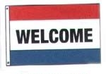 Welcome Message Flag 3' x 5'
