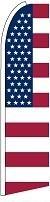 American Flag USA (v2) Feather Flag 2.5' x 11.5'