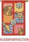 Patchwork Shells House Flag - 1 left