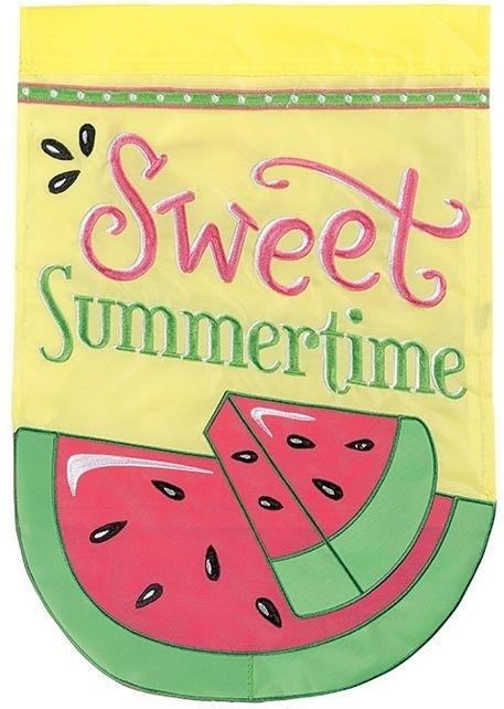 Sweet Summertime Double Applique House Flag