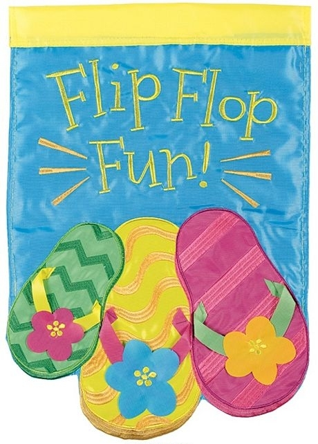 Summer Flip Flops Double Applique Garden Flag
