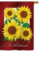 Welcome Sunflowers House Flag