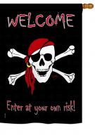 Enter at your own risk House Flag