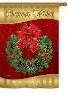Christmas Wishes House Flag