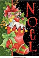 Noel Stocking Garden Flag