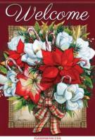 Flowers Of Christmas Garden Flag