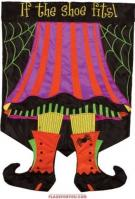 Witch Feet Applique House Flag