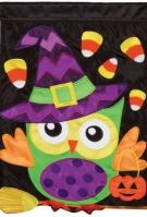 Trick Or Treat Applique House Flag