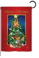 Merry Christmas Tree Garden Flag