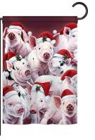 Christmas Piggies Garden Flag